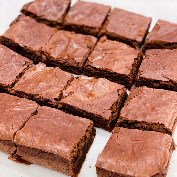 Chocolate Brownie cut into 16 pieces